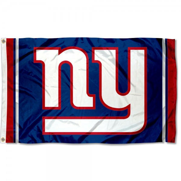 Our New York Giants Logo Flag is double sided, made of poly, 3'x5', has two grommets, and four-stitched fly ends. These New York Giants Logo Flags are Officially Licensed by the NFL.