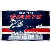 New York Giants Throwback Retro Vintage Logo Flag