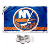 New York Islanders Banner Flag with Tack Wall Pads