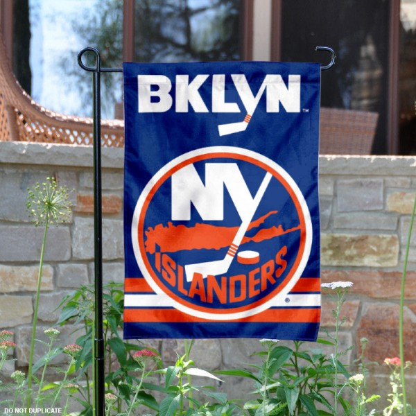 New York Islanders Garden Flag is 12.5x18 inches in size, is made of 2-ply polyester, and has two sided screen printed logos and lettering. Available with Express Next Day Ship, our New York Islanders Garden Flag is NHL Officially Licensed and is double sided.