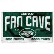 New York Jets Fan Cave Flag Large Banner