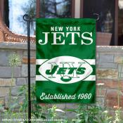 New York Jets Throwback Logo Double Sided Garden Flag Flag
