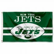 New York Jets Throwback Retro Vintage Logo Flag