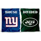 New York Jets vs. New York Giants House Divided Flag