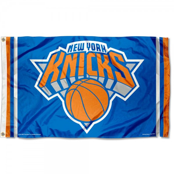 The New York Knicks Flag Team Flag is four-stitched bordered, double sided, made of poly, 3'x5', and has two grommets. These New York Knicks Flag Team Flags are NBA Genuine Merchandise.