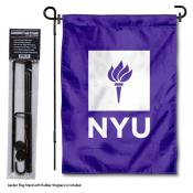 New York University Garden Flag and Stand