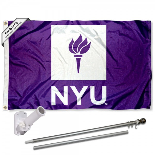 New York Violets Flag Pole and Bracket Kit