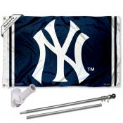 New York Yankees NY Logo Flag Pole and Bracket Kit