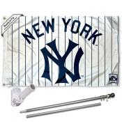 New York Yankees Vintage Flag Pole and Bracket Kit