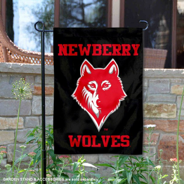 Newberry College Garden Flag is 13x18 inches in size, is made of 2-layer polyester, screen printed university athletic logos and lettering, and is readable and viewable correctly on both sides. Available same day shipping, our Newberry College Garden Flag is officially licensed and approved by the university and the NCAA.