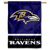 NFL Baltimore Ravens Two Sided House Banner