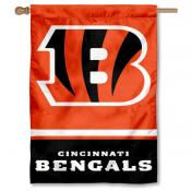 NFL Cincinnati Bengals Two Sided House Banner