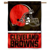NFL Cleveland Browns Two Sided House Banner