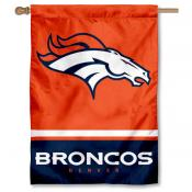 NFL Denver Broncos Two Sided House Banner