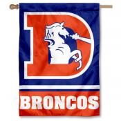 NFL Denver Broncos Vintage Logo Two Sided House Banner