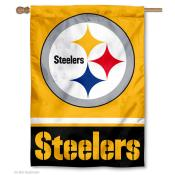 NFL Pittsburgh Steelers Gold Double Sided House Banner