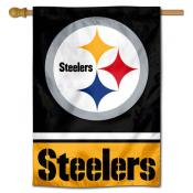 NFL Pittsburgh Steelers Two Sided House Banner