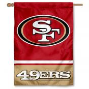 NFL San Francisco 49ers Two Sided House Banner