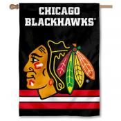 NHL Chicago Blackhawks Two Sided House Banner