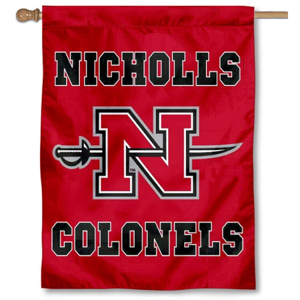 Nicholls State Colonels Banner Flag is a vertical house flag which measures 30x40 inches, is made of 2 ply 100% polyester, offers dye sublimated NCAA team insignias, and has a top pole sleeve to hang vertically. Our Nicholls State Colonels Banner Flag is officially licensed by the selected university and the NCAA.