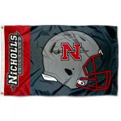 Nicholls State Colonels Football Helmet Flag
