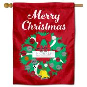Nicholls State Colonels Happy Holidays Banner Flag