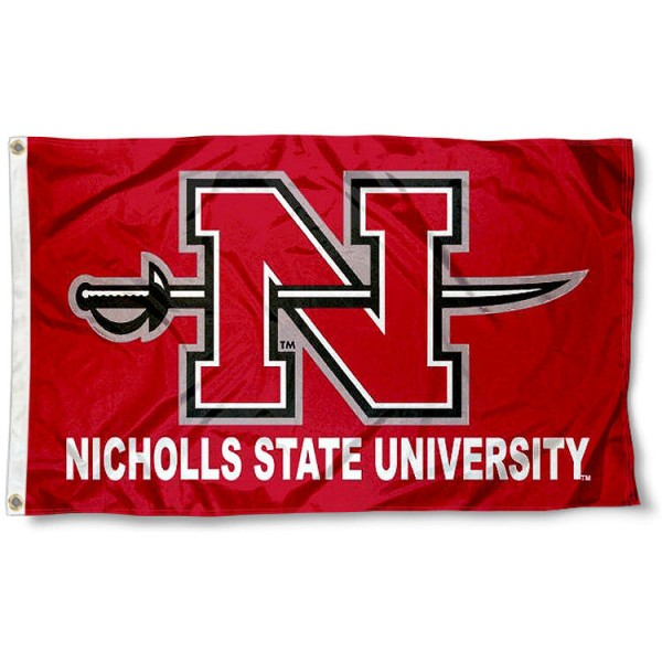 Nicholls State University Flag measures 3'x5', is made of 100% poly, has quadruple stitched sewing, two metal grommets, and has double sided Nicholls State University logos. Our Nicholls State University Flag is officially licensed by the selected university and the NCAA