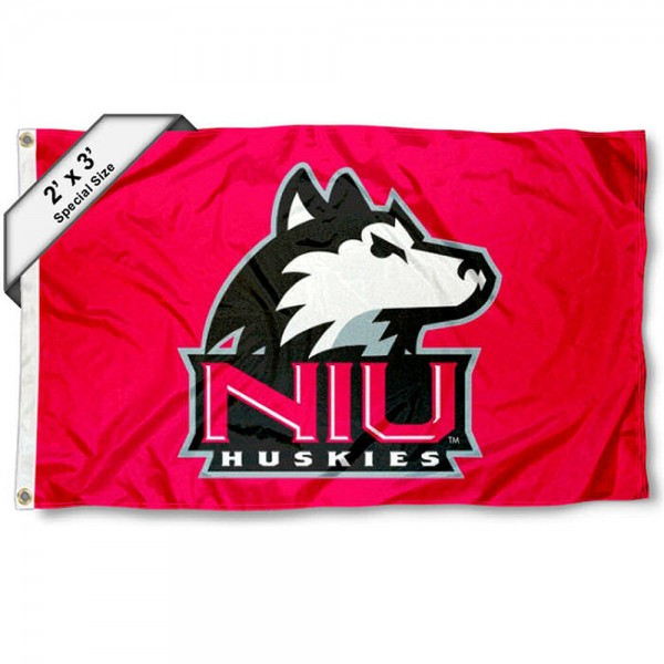 NIU Huskies Small 2'x3' Flag measures 2x3 feet, is made of 100% polyester, offers quadruple stitched flyends, has two brass grommets, and offers printed NIU Huskies logos, letters, and insignias. Our 2x3 foot flag is Officially Licensed by the selected university.