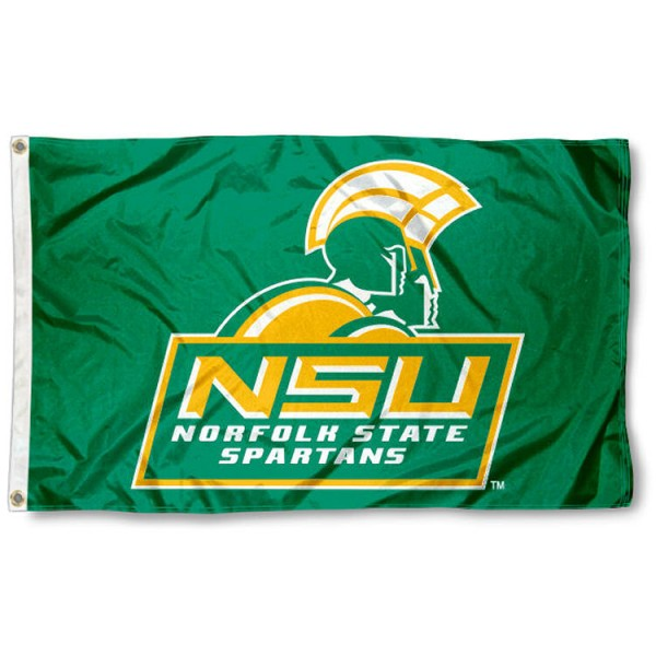 Norfolk State University Flag is made of Nylon, Screen Printed logos of Norfolk State University, 3'x5' in Size, and Viewable from Both Sides. These Flags for Norfolk State University are a NCAA Licensed Product.
