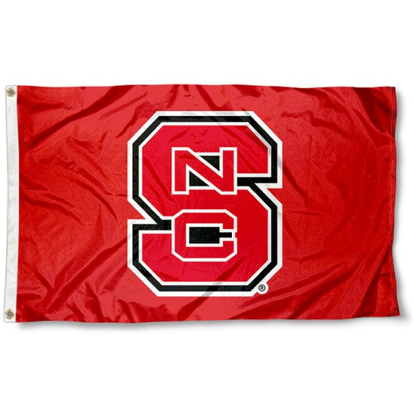 North Carolina State University Flag measures 3'x5', is made of 100% poly, has quadruple stitched sewing, two metal grommets, and has double sided North Carolina State University logos. Our North Carolina State University Flag is officially licensed by the selected university and the NCAA