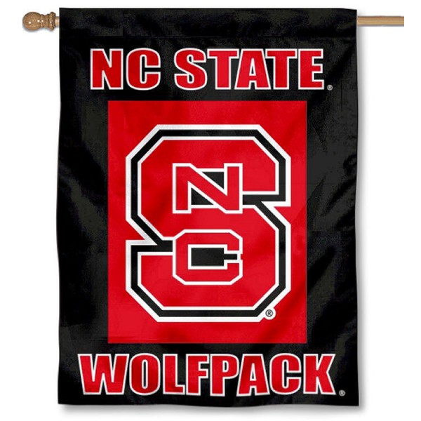 North Carolina State Wolfpack Banner Flag is a vertical house flag which measures 30x40 inches, is made of 2 ply 100% polyester, offers dye sublimated NCAA team insignias, and has a top pole sleeve to hang vertically. Our North Carolina State Wolfpack Banner Flag is officially licensed by the selected university and the NCAA.