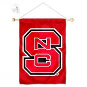 North Carolina State Wolfpack Banner with Suction Cup
