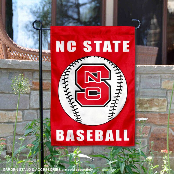 North Carolina State Wolfpack Baseball Team Garden Flag is 13x18 inches in size, is made of 2-layer polyester, screen printed North Carolina State University Baseball athletic logos and lettering. Available with Express Shipping, Our North Carolina State Wolfpack Baseball Team Garden Flag is officially licensed and approved by North Carolina State University Baseball and the NCAA.