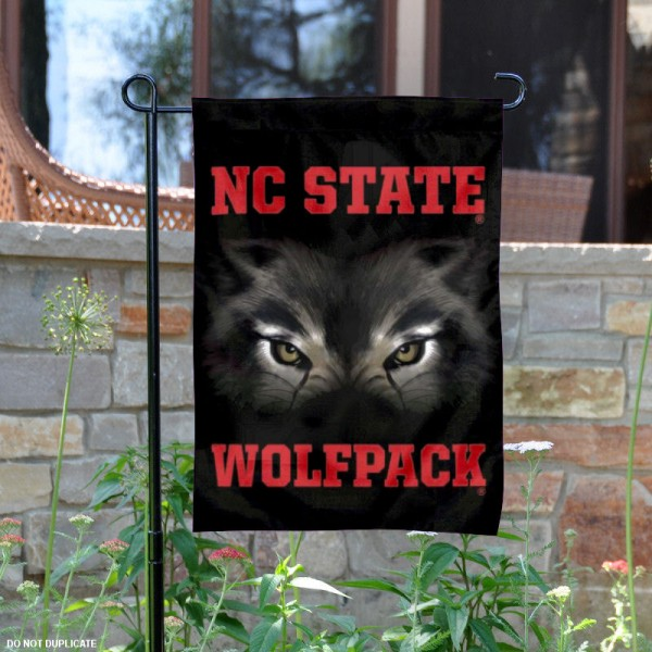 North Carolina State Wolfpack Logo Garden Flag is 13x18 inches in size, is made of 2-layer polyester, screen printed North Carolina State Wolfpack Bay athletic logos and lettering. Available with Same Day Express Shipping, Our North Carolina State Wolfpack Logo Garden Flag is officially licensed and approved by North Carolina State Wolfpack Bay and the NCAA.
