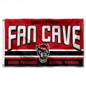 North Carolina State Wolfpack Fan Man Cave Game Room Banner Flag
