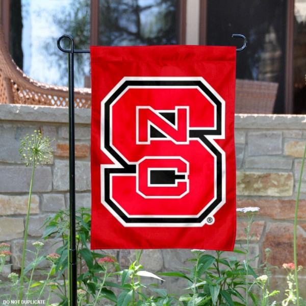 North Carolina State Wolfpack Garden Flag is 13x18 inches in size, is made of 2-layer polyester, screen printed NC State Wolfpack athletic logos and lettering. Available with Same Day Express Shipping, Our North Carolina State Wolfpack Garden Flag is officially licensed and approved by NC State Wolfpack and the NCAA.