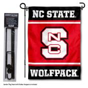 North Carolina State Wolfpack Garden Flag and Pole Stand Holder