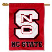 North Carolina State Wolfpack Logo Double Sided House Flag