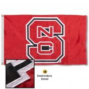 North Carolina State Wolfpack Nylon Embroidered Flag