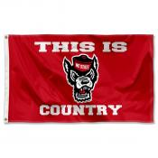 North Carolina State Wolfpack This is Wolfpack Country Logo Flag