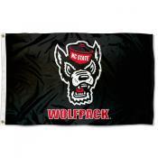 North Carolina State Wolfpack Wolf Logo Flag