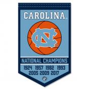 North Carolina Tar Heels Basketball National Champions Banner