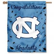 North Carolina Tar Heels Congratulations Graduate Flag