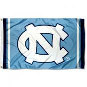 North Carolina Tar Heels Court Stripes Flag
