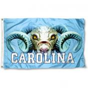 North Carolina Tar Heels Eyes Logo Flag