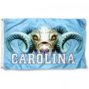 North Carolina Tar Heels Eyes Logo Flag