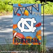 North Carolina Tar Heels Fall Football Autumn Leaves Decorative Garden Flag