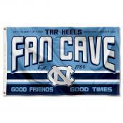 North Carolina Tar Heels Fan Man Cave Game Room Banner Flag