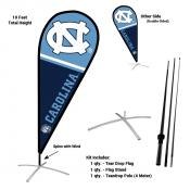 North Carolina Tar Heels Feather Flag Kit