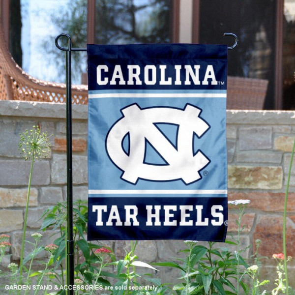 North Carolina Tar Heels Garden Flag is 13x18 inches in size, is made of 2-layer polyester, screen printed logos and lettering. Available with Same Day Express Shipping, Our North Carolina Tar Heels Garden Flag is officially licensed and approved by the NCAA.
